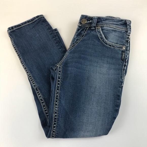 Silver Jeans Denim - Silver Jeans Denim Suki Capri W26 Medium Wash
